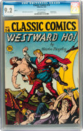 Golden Age (1938-1955):Classics Illustrated, Classic Comics #14 Westward Ho! - First Edition (Gilberton, 1943)CGC NM- 9.2 Off-white pages....