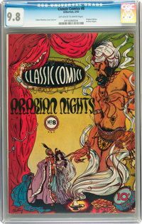 Classic Comics #8 Arabian Nights - First Edition (Gilberton, 1943) CGC NM/MT 9.8 Off-white to white pages