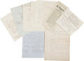 Miscellaneous:Ephemera, Franklin Chase Archive spanning the years 1839 through 1866, itincludes letters, a copy of a decree by President Benito Juá...(Total: 10 Items)