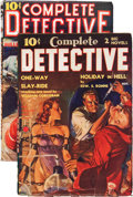 Pulps:Detective, Complete Detective Group (Western Fiction, 1938-39) Condition:Average VG/FN.... (Total: 2 )
