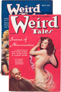 Pulps:Horror, Weird Tales Group (Popular Fiction, 1933-38) Condition: Average VG/FN.... (Total: 2 Items)