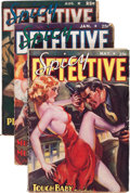 Pulps:Detective, Spicy Detective Stories Group (Culture, 1938-42) Condition: AverageVG-.... (Total: 4 Items)