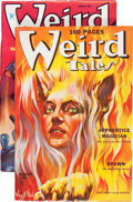 Pulps:Horror, Weird Tales Group (Popular Fiction, 1935-39) Condition: AverageFN-.... (Total: 2 Items)