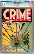 Golden Age (1938-1955):Crime, Crime Does Not Pay #34 (Lev Gleason, 1944) CGC FN- 5.5 Off-white to white pages....