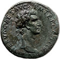 Ancients:Judaea, Ancients: Nerva (96 - 98 AD). AE sestertius (32mm, 23.63 gm, 6h)....
