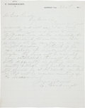 Miscellaneous:Ephemera, [Charles Goodnight]. Possible Dictated Letter to George Findley....