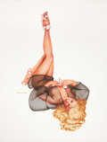 "Pin-up and Glamour Art, OLIVIA DE BERARDINIS (American, b. 1948). ""Go North Young Man"",Shannon Tweed, Playboy Pin-Up illustration, May 2008. Go...(Total: 2 Items)"