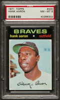 Baseball Cards:Singles (1970-Now), 1971 Topps Hank Aaron #400 PSA NM-MT 8....