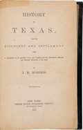 Books:Americana & American History, James M. Morphis. History of Texas, from Its Discovery and Settlement with a Description of Its Principal Cities and Cou...
