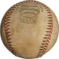 Baseball Collectibles:Balls, 1972 Nate Colbert's Record Fifth Home Run Baseball from Doubleheader....