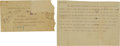 Baseball Collectibles:Others, 1912 Smoky Joe Wood Death Threat Letter....