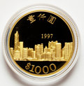 Hong Kong, Hong Kong: Special Administration Region Proof gold $1000 1997,...