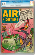 Golden Age (1938-1955):War, Air Fighters Comics V2#1 (Hillman Fall, 1943) CGC VG 4.0 Cream tooff-white pages....