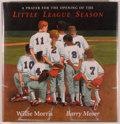 Books:Children's Books, Barry Moser [illustrator]. Willie Morris. SIGNED. A Prayer forthe Opening of the Little League Season. San Diego: H...