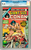 Bronze Age (1970-1979):Miscellaneous, Giant-Size Conan #3 Twin Cities pedigree (Marvel, 1975) CGC NM 9.4Off-white to white pages....
