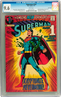 Superman #233 Twin Cities pedigree (DC, 1971) CGC NM+ 9.6 White pages