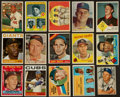 Baseball Cards:Lots, 1951 - 1973 Topps, Fleer & Bowman Baseball Hall of FamersCollection (15)....