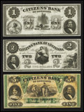 Obsoletes By State:Louisiana, New Orleans, LA- Citizens' Bank of Louisiana $1; $2; $5. ... (Total: 3 notes)