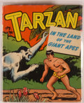 Books:Children's Books, [Big Little Book]. Edgar Rice Burroughs. Tarzan in the Land ofthe Giant Apes. Racine: Whitman, [1949]. Square s...