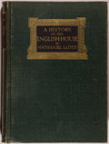 Books:Art & Architecture, Nathaniel Lloyd. A History of the English House. London: Architectural Press, 1931. Quarto. 487 pages. Publisher's b...