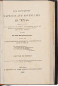 Books:Biography & Memoir, [Richard Penn Smith]. Col. Crockett's Exploits and Adventures inTexas: Wherein is Contained a Full Account of his Journ...