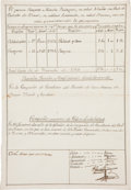 Autographs:Non-American, [Texas Colonial Governor]. Manuel Muñoz Signed Military Record fora Cavalry Sergeant Serving at Bexar. ...