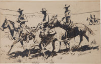 Edward Borein Ink Drawing and Etching