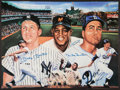 Baseball Collectibles:Photos, Mickey Mantle, Willie Mays and Duke Snider Multi Signed OversizedPrint....