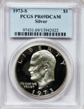Proof Eisenhower Dollars: , 1973-S $1 Silver PR69 Deep Cameo PCGS. PCGS Population (13629/4).NGC Census: (1368/0). Numismedia Wsl. Price for problem ...