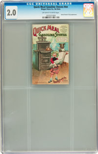 Quick Meal Gasoline Stoves #nn (Ringen Stove Co., c. 1910) CGC GD 2.0 Off-white to white pages