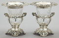 Silver Holloware, British:Holloware, A PAIR OF WILLIAM COMYNS EDWARDIAN SILVER AND CUT GLASS WINECOOLERS . William Comyns & Sons, London, England, 1908-1909.Ma... (Total: 2 Items)