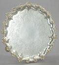 Silver Holloware, British:Holloware, A SAVORY VICTORIAN SILVER SALVER . Joseph & Horace Savory,London, England, 1888-1889. Marks: (lion passant), (leopard'shea...
