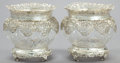 Silver Holloware, British:Holloware, A PAIR OF WILLIAM COMYNS VICTORIAN SILVER AND CUT GLASS WINECOOLERS . William Comyns & Sons, London, England, 1899-1900.Ma... (Total: 2 Items)