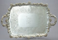 Silver & Vertu, A LIAS WILLIAM IV SILVER TRAY . John, Henry, and Charles Lias, London, England, 1835-1836. Marks: (lion passant), (leopard's...