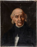 Miscellaneous:Ephemera, [Miguel Hidalgo y Costilla] and [Josefa Ortiz de Domínguez]. TwoUnsigned Portrait Paintings of Heroes of Mexican War of I...(Total: 2 )