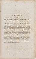Books:Americana & American History, [Railroads]. Charter of the Galveston and Red River RailwayCompany....