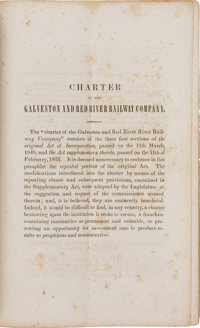 [Railroads]. Charter of the Galveston and Red River Railway Company