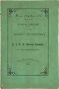 Books:Americana & American History, [Railroads]. Fifth Annual Report of the President and Directorsof the H. and T. C. Railway Company, To the Stockholders...
