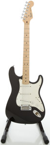Musical Instruments:Electric Guitars, 1989 Fender Stratocaster USA Black Solid Body Electric Guitar,#E924791....