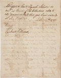 Autographs:Military Figures, Mathew Caldwell Document Signed....