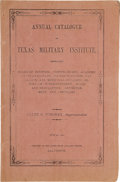 Books:Americana & American History, Caleb Forshey. Annual Catalogue of Texas MilitaryInstitute,...