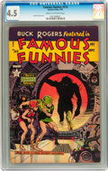 Golden Age (1938-1955):Science Fiction, Famous Funnies #213 (Eastern Color, 1954) CGC VG+ 4.5 Cream tooff-white pages....