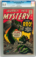 Silver Age (1956-1969):Science Fiction, Journey Into Mystery #58 (Marvel, 1960) CGC VF 8.0 Off-whitepages....