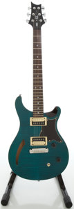 Musical Instruments:Electric Guitars, Recent Paul Reed Smith (PRS) SE Custom Trans Blue Solid Body Electric Guitar, #H19386....