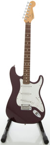 Musical Instruments:Electric Guitars, 1999 Fender Stratocaster USA Purple Solid Body Electric Guitar,#N9396210....