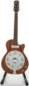 Musical Instruments:Acoustic Guitars, Rogue Mahogany Electric Resonator Guitar, #RR300FL....