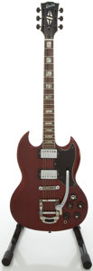 Musical Instruments:Electric Guitars, 1970's Electra SG Copy Cherry Solid Body Electric Guitar, #2259....