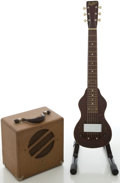 Musical Instruments:Lap Steel Guitars, Circa 1930's Guldan Lap Steel Guitar and Matching Amp Set....