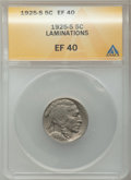 Errors, 1925-S 5C Buffalo Nickel -- Lamination -- XF40 ANACS. NGC Census: (35/548). PCGS Population (42/737). Mintage: 6,256,000. N...
