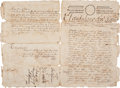 Autographs, [Power and Hewetson Colony]. John Dunn Signed Land Deed Issued toMaria Josefa Travieso....